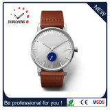 Soem-lederne Uhrenarmband-kundenspezifische Dame-Uhr (DC-077)