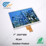 7 étalage de TFT LCD de 16:9 de taux de couleur de pouce 380 CD/M2 16m