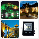 Ultrathin Slim IP67 Black Garden Light Exterior Iluminação exterior 100W LED Flood Light