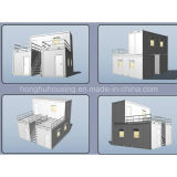 Projeto da casa do recipiente de Prefabricted do baixo custo