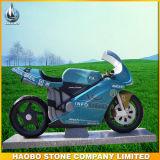 Headstone de pedra cinzelado mão do projeto da motocicleta
