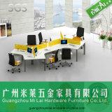 Sitzarbeitsplatz der Form-Büro-Möbel-sechs mit Stahlfuss-und Schreibtisch-Partition