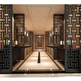 moderner Raum Divider Design Laser-Cut Partition Screen Panel Restaurant Metal