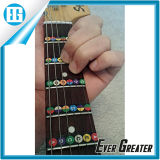 Alphabet inglese Color Coded Note Strips per Learning Guitar Sticker