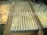 Folha ondulada da telhadura da chapa de aço de Zincalume/metal de Aluzinc