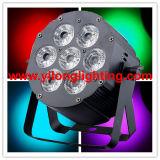 Ministadiums-Disco DJ des aluminium-7X18W Rgabwuv beleuchten