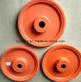 Bastidor del hierro gris de la precisión del OEM y rueda de la polea que trabaja a máquina