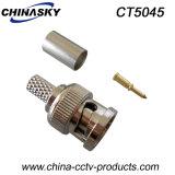 Falz auf Stecker Mann-CCTV-BNC für Koaxialkabel Rg59 (CT5045)