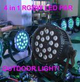 4 in 1 LEIDEN van het Aluminium RGBW Licht van het PARI voor Openlucht