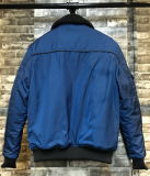Pele Collar Men Bomber Jacket com Quilted Linning