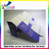 Empaquetado plegable de papel de sellado caliente del producto del BALNEARIO del rectángulo cosmético