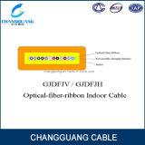 Cavo ottico della fibra di Gjdfjv con il filato di Aramid come cavo di fibra ottica piano dell'interno del cavo a nastro della fibra di multi memoria del membro di concentrazione