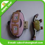 Movimentação de borracha personalizada elegante do flash do USB para a promoção (SLF-RU001)