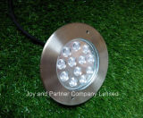 Enterrada LED 12W Luz de jardín de acero inoxidable IP67 (JP824121)