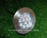 luz IP67 do jardim do diodo emissor de luz Inground do aço 12W inoxidável (JP824121)