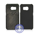 Samsung S6 Edge를 위한 Promotional 새로운 Gift 100%년 Real Carbon Fiber Rubberized PC Plastic Case