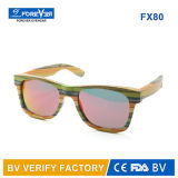 Natural polarizzato Handmade Wooden Bamboo Sunglasses con Customer Brand