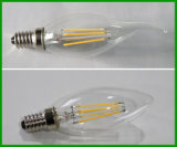 Bulbo lleno claro E12 del filamento del vidrio E14 2W LED