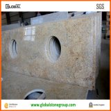 Естественные верхние части тщеты ванной комнаты гранита золота Кашмира