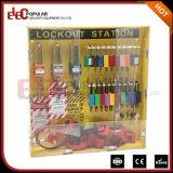 Estações amarelas portáteis do fechamento da segurança do vidro orgânico da alta qualidade do tipo de Elecpopular