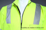 Lange Koker Poly hallo-namelijk het Weerspiegelende Overtrek van Workwear van de Veiligheid met Weerspiegelende Band
