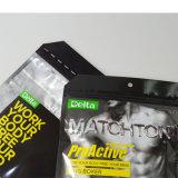 La déchirure zip-lock rescellable de sachet en plastique d'hommes d'impression de gravure entaille les sacs de empaquetage de papier d'aluminium de poche de sous-vêtements