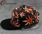 길쌈된 레이블 로고를 가진 열대 Snapback 모자