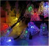 太陽エネルギー20LEDの結婚式新し年のクリスマスストリングライトジングルベルLhSs12