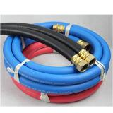 """La fibre de rouge bleu a tressé """" boyau flexible de l'eau 1-1/4"""