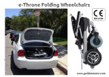 """황금 모터 8 """", 10 """", 12 """" e 왕위 판매를 위한 무브러시 접히는 휠체어 /Electric Foldable 휠체어 또는 휴대용 전자 휠체어"""