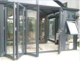 Het lage Aluminium die van het Glas van E Deuren voor Shopfront vouwen, Commerciële Deuren (cl-D2022)