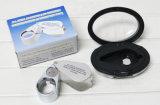 Faltendes der Glas-40X Vergrößerungsglas Vergrößerungsglas-Schmucksache-Uhr-der Taschen-LED