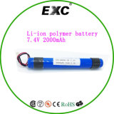 Batterie au lithium de l'usine 2p 18650 7.4V 2000mAh de batterie