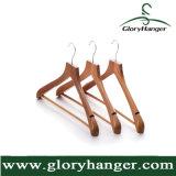 Retro Houten Hanger van de Luxe, Laag/de Hanger van het Kostuum met de Staaf van de Broek