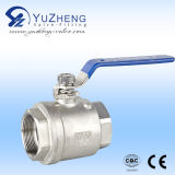 Wcb Material Thread 2PC Ball Valve met NPT Screw