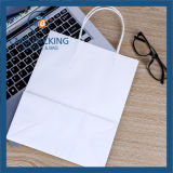 Kraft blanco y negro Paper Bag para Fashion Clothing con Twist Handle (CMG-MAY-050)