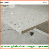 Tapas grises artificiales de la piedra del cuarzo para el banco del equipaje del hotel
