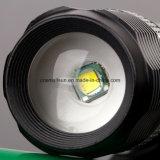 セリウム、RoHS、MSDS、ISO、SGSが付いている回転集中LEDの懐中電燈