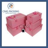 Caixa de papel de empacotamento do cosmético rígido luxuoso da caixa de presente (CMG-PGB-017)