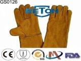 Chiaのライニング牛そぎ皮の溶接の安全手袋