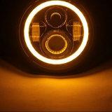 [2بكس/بير] 7 بوصة [50و] [كر] مستديرة [لد] خفيفة سيارة ضوء يحدّق ملاكة هالة حلقة ذاتيّ مصباح أماميّ لأنّ عربة جيب مخاصم [جك] [كج] [دك10-30ف]