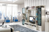 Le sofa chaud de salle de séjour de cuir de vente a placé en stock (GLS-028)