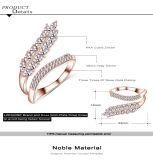 De Ring van het Kostuum van de Vrouwen van CZ van het Zirkoon van de Vorm van het Blad van de boutique (CRI1041)