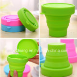 Promotion를 위한 형식 열 Resistant와 Portable Silicone Foldable Cup