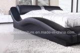 A070 moderna muebles de cuero dormitorio Cama