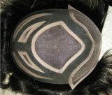 Mono unità di elaborazione della base intorno al Toupee degli uomini dei capelli umani di Remy