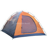 Tente de imperméabilisation de double couche bon marché, tente orange de bivouac de la personne 3-4