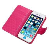 Caixa de couro do plutônio da tampa do telefone móvel para o iPhone