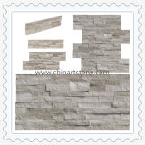 Ardósia de mármore de madeira branca da pedra da cultura da natureza para a decoração da parede
