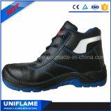 Calzado de cuero industrial con estilo Ufa017 del trabajo de los zapatos de seguridad